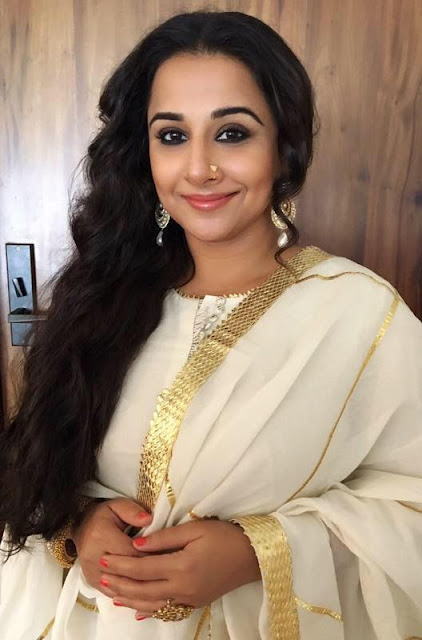 Vidya Balan in Jewellery by MiRA by Radhika Jain and outfit by Sukriti & Aakriti for movie promotions event