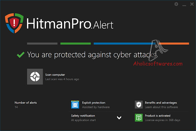 HitmanPro.Alert is a lightweight application able to monitor your browser activity and detect potential threats that may comprise system security.