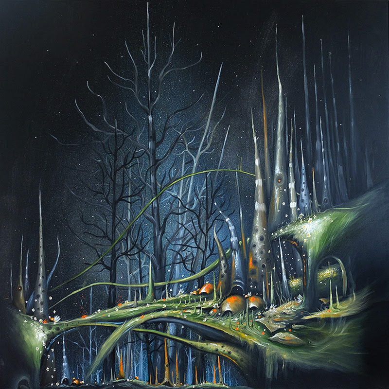 Landscapes and Organic Inspired Paintings by Ben Peeters.