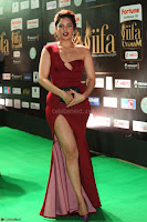 Natasha Nebasha in a Leg Slit Sleeveless Stunning Red Gown at IIFA Utsavam Awards 2017 068.JPG