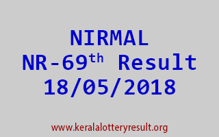 NIRMAL Lottery NR 69 Result 18-05-2018