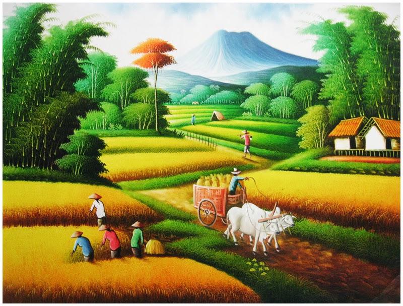 Gambar 15 Contoh Lukisan Naturalisme Pemandangan Alam