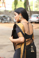 Poorna in Cute Backless Choli Saree Stunning Beauty at Avantika Movie platinum Disc Function ~  Exclusive 059.JPG