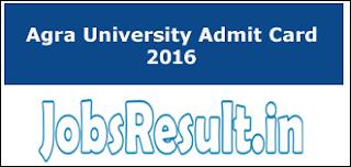 Agra University Admit Card 2016