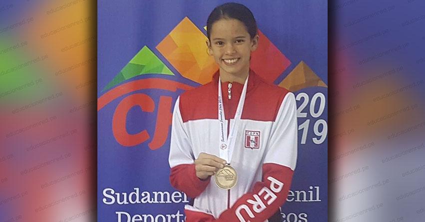 ALEXIA SOTOMAYOR: Peruana logra segunda medalla de oro en «XXXVII Campeonato Sudamericano Juvenil de Natación» realizado en Chile