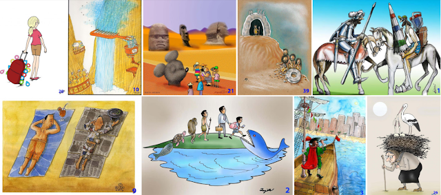 Finalists of International Tourism Cartoon Competition