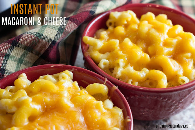 Instant Pot Macaroni and cheese, Chasing Saturdays