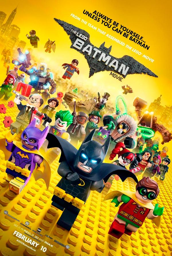 Cartel Batman La Lego película
