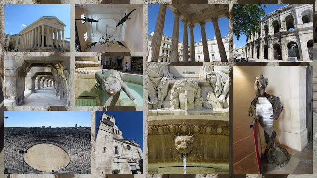 Photocollage of Nîmes, France
