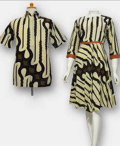 Model Baju Batik Pesta terbaru