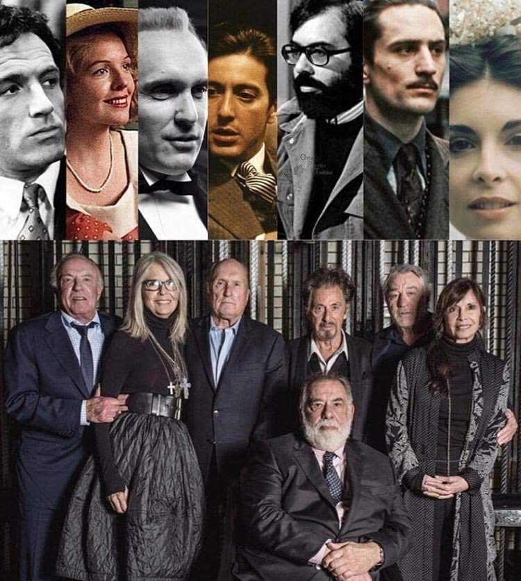 Today's Photo - April 17, 2019 - The Godfather Reunion : 1972年公開の「ザ・ゴッドファーザー」と続編の1974年公開「Part II」から半世紀近い時を経て、再び集ったコルレオーネ・ファミリー ! !