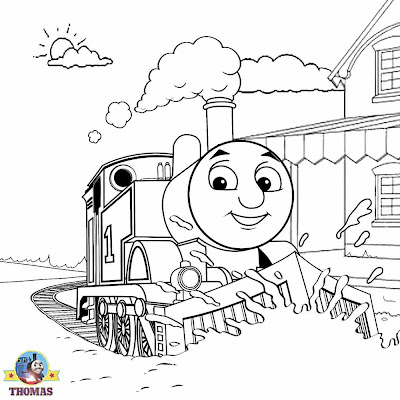December 2012 train thomas the tank engine friends free for Santa train coloring page