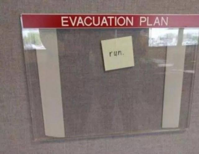 """Esse foi direto ao ponto, escreveu """"corra!"""""""