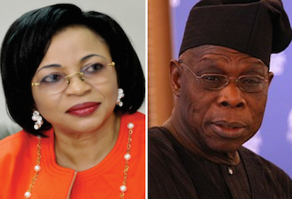 Chief Olusegun Obasanjo and Africa richest woman t Folorunsho Alakija