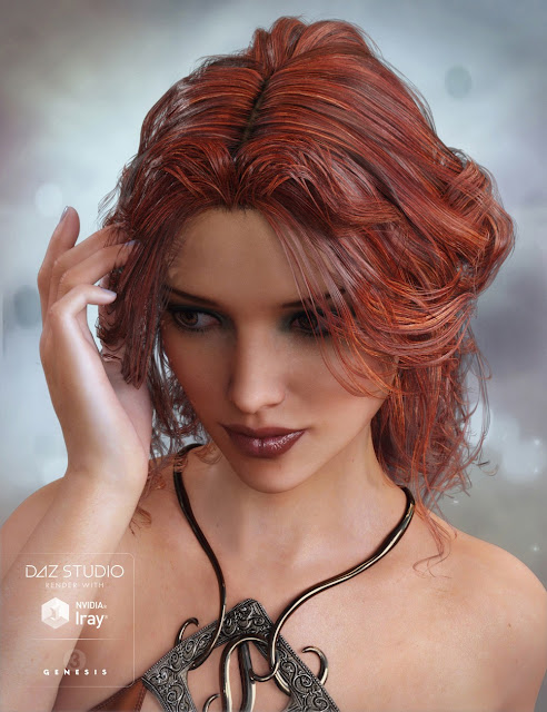 Galene Hair for Genesis 3 Female