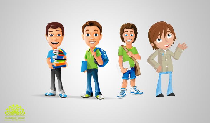 للمصممين تحميل ملف شخصيات كرتونية للتصميم مدونة أوم تك مواضيع حصرية و شروحات تقنية