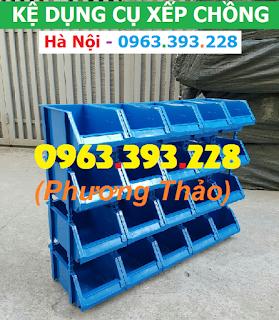 Kệ dụng cụ xếp chồng, hộp nhựa đựng linh kiện giá rẻ tại kho Hà Nội