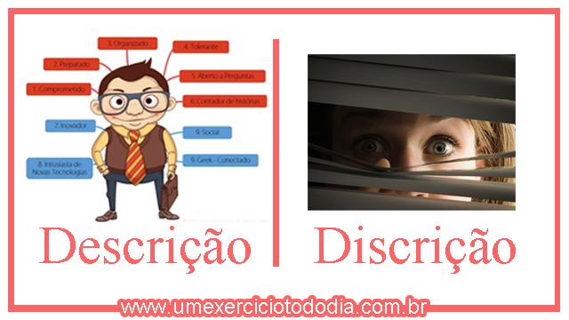 diferença entre descrição e discrição