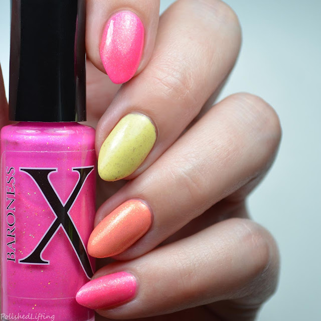 citrus colored nail art