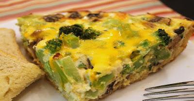 Broccoli-Cheddar-Quiche