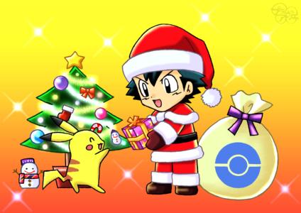 プラムのアトリエ ポケットモンスター クリスマス サトシサンタ