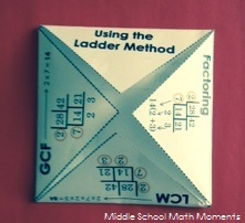 Using the ladder method to find GCF, LCM and to factor.