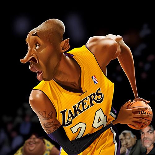 """Kobe Bryant"" por Fernando Buigues"