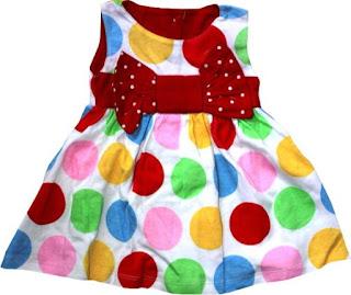 Dress Baju Bay Motif Pulkadot Terbaru