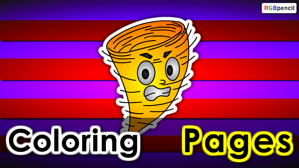 Free Printable cartoon Tornado Coloring pages Worksheet for ...