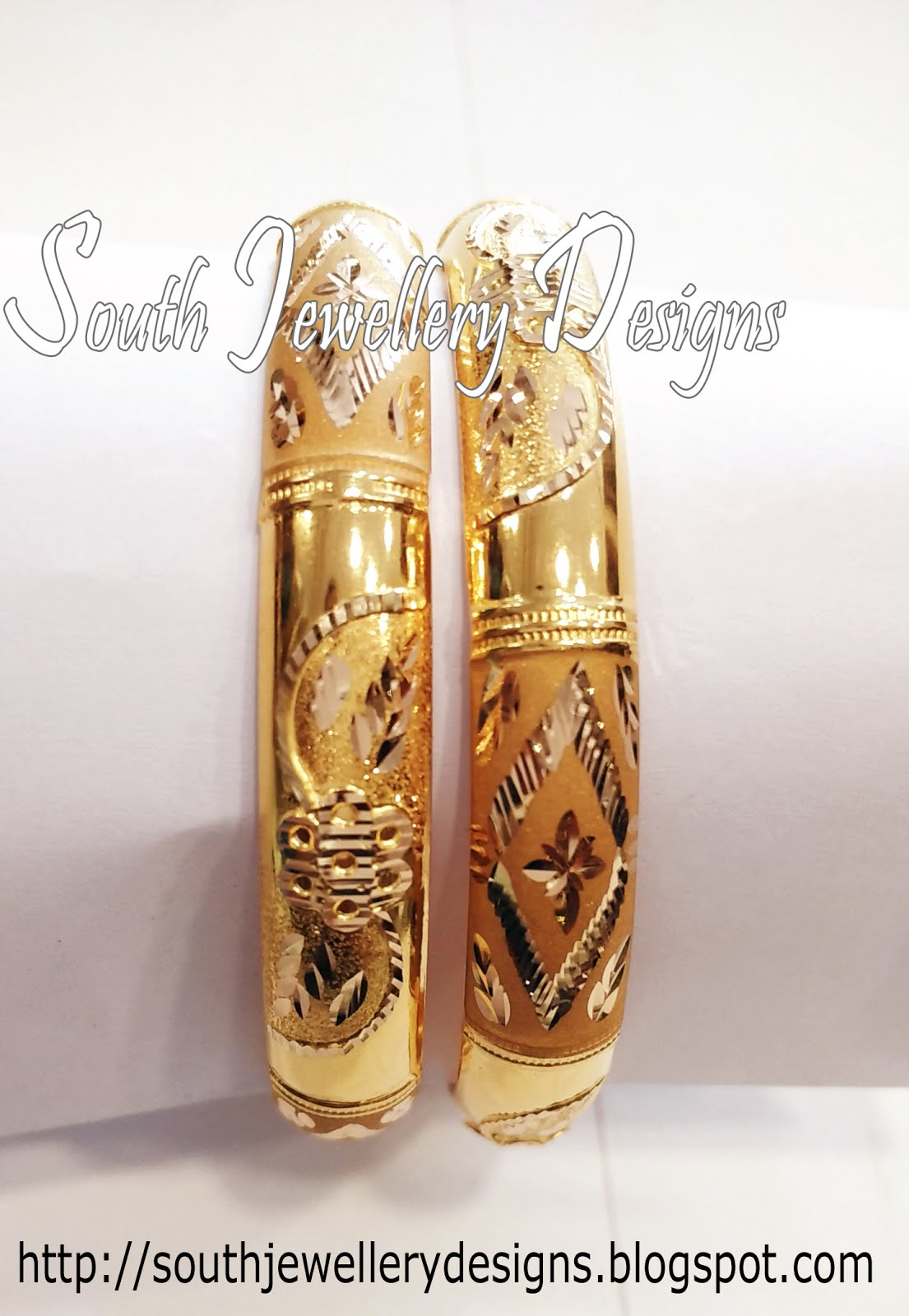 South Jewellery Designs Gold Bangles Designs