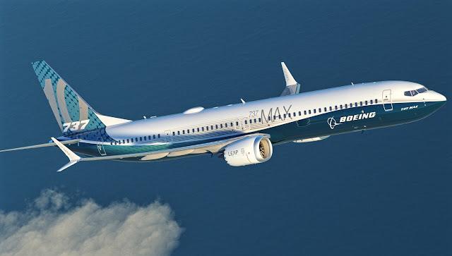 Boeing 737 MAX 10 Inflight Ocean