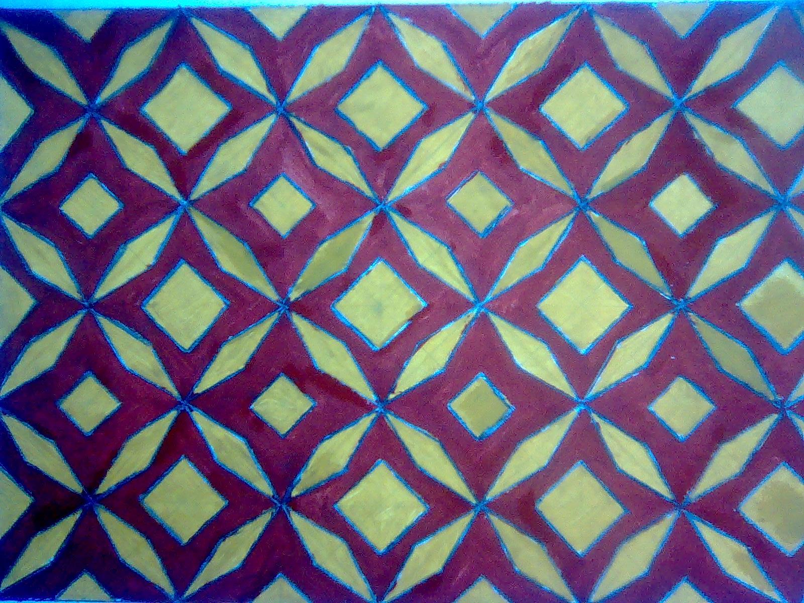 Motif Batik Yang Mudah Digambar Di Kertas Gambar