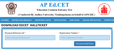 AP EdCET hall tickets, Edcet Hall Tickets, Edcet Entrance exam date