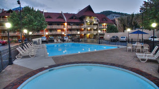 Outdoor pool downtown Gatlinburg
