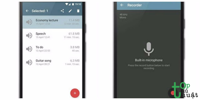 Phần mềm ghi âm Android- Shadrin Voice Recorder