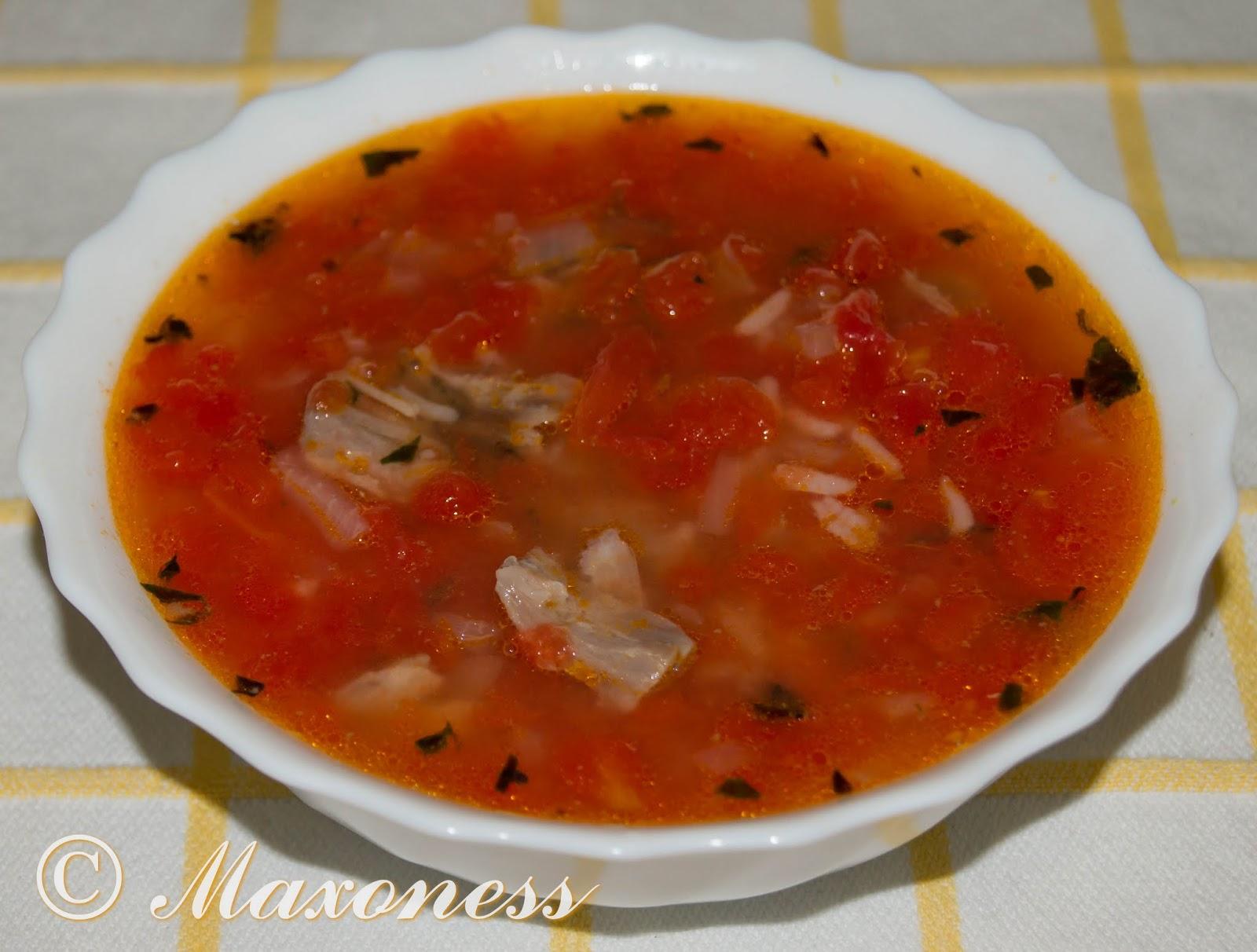 Суп из баранины с помидорами. Арабская кухня