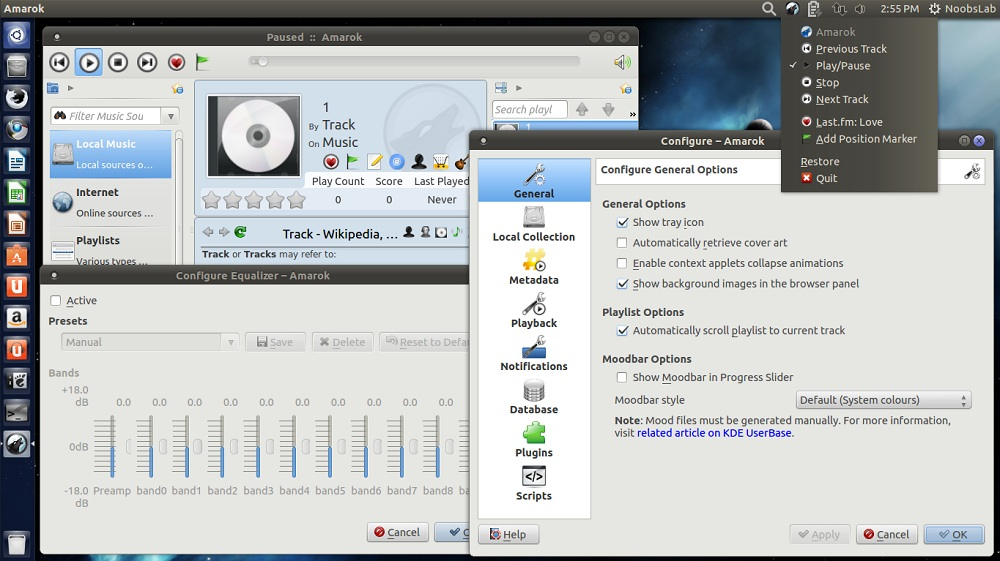 Amarok 2 8 0 Powerful Audio Player, Install from PPA in Ubuntu/Linux