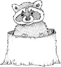 Printable Raccoon Coloring Pages With The Drum Beater Online