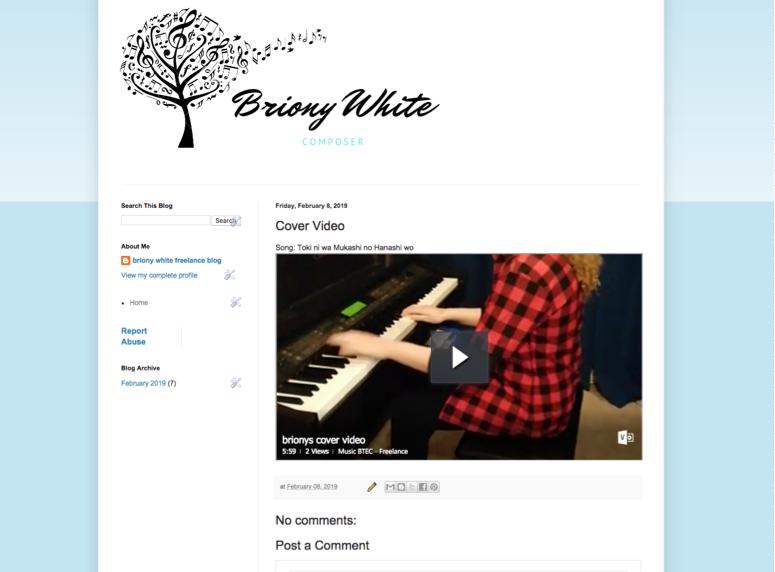 Briony White Freelance Blog