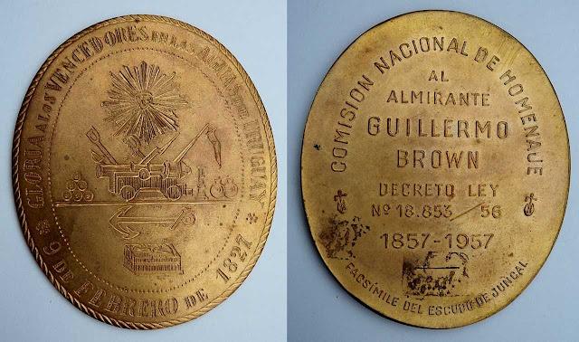 Facsimil Medalla Combate de Juncal