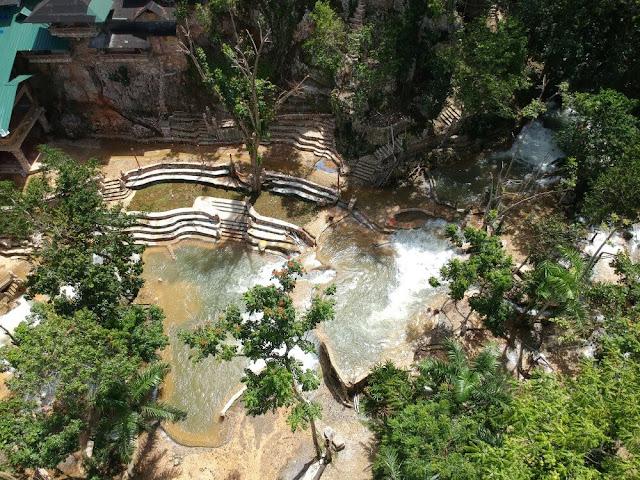 Paraíso Caño Hondo piscinas desde el aire