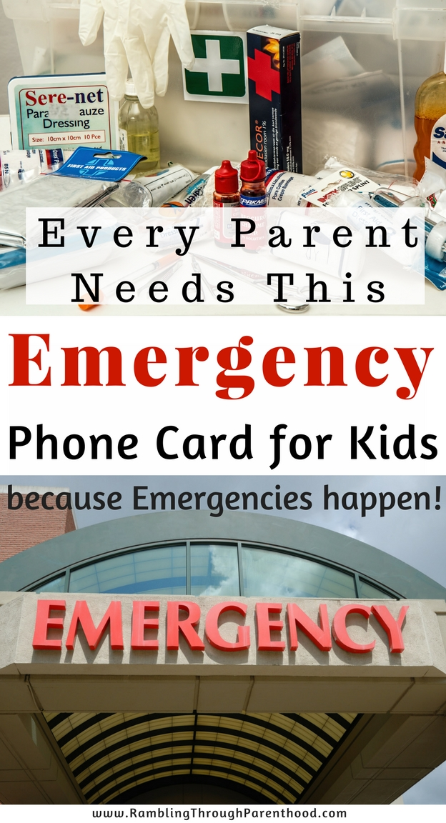 Must-have for Parents: Emergency Phone Card for Kids