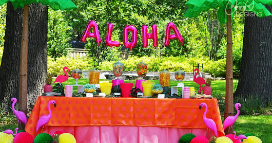 Aloha High School Luau Themed Graduation Party