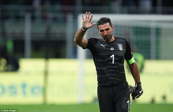 Buffon tham gia liên tiếp 5 trận World Cup