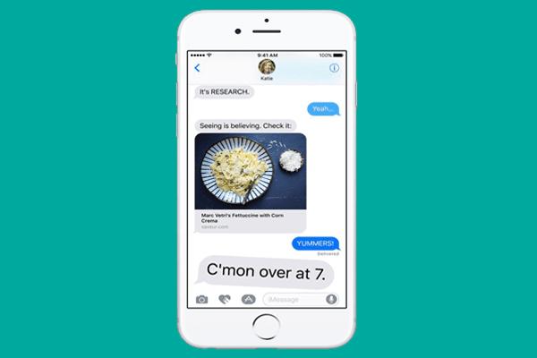 iMessage di iOS 10
