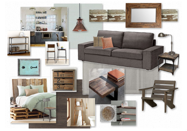 Remodelaholic making mood boards Rustic modern living room design