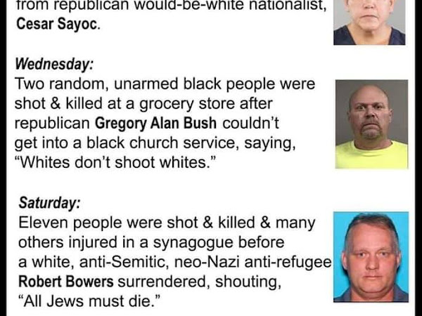 A Week Of American Hate: Bombs Mailed, Black People Executed, Jews Slaughtered