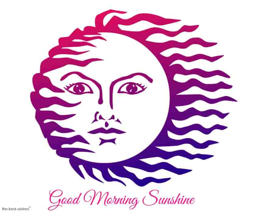 good morning sunshine with beautiful sun art