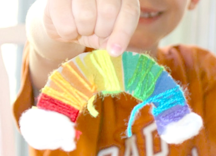 rainbow fine motor skills craft for spring