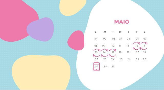 Calendário (tabelinha) onde se marca os vários dias possíveis para a ovulação, fazendo o cálculo do périodo fértil